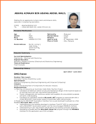 best cv for job application bussines proposal  best cv for job application good resume template for job application electrical engineering resume summary and dmg internship history png
