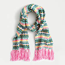 Knit Tassel Scarf In Multicolor Fair Isle - J.Crew