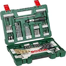 <b>Bosch 91</b>-Piece <b>V</b>-<b>Line</b> Titanium Drill Bit and Screwdriver Bit Set ...