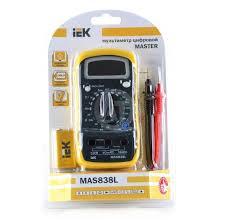<b>Мультиметр цифровой IEK Master</b> MAS838L - купить в Краснодар ...