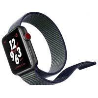«<b>Ремешок</b> для часов <b>Apple</b> Woven <b>Nylon</b> 38 мм (серый ...