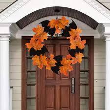<b>Halloween Decoration</b> Bat Wreath Pendant <b>Mall Bar</b> Decoration ...