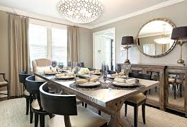 dining room table mirror top: zinc top dining table dining room contemporary with beige armchair beige curtain