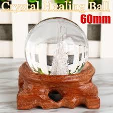 Melting Stone Sphere Quartz 60Mm <b>Clear Crystal Ball Healing</b> Rock ...