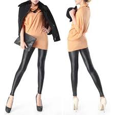 Fashion <b>1pc</b> Women Girl's <b>Sexy</b> Black <b>Faux</b> PU Leather Leggings ...