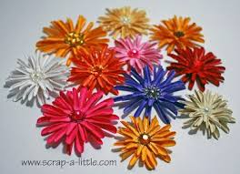 SCRAP A LITTLE!: <b>Tutorial</b> for <b>cardstock</b> Daisies! | <b>Handmade</b> ...