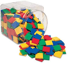 Learning Resources Square Color Tiles, Counting ... - Amazon.com