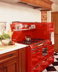 vintage kitchen appliance retro appliances: appliances  retro look small kitchen design with charming red retro kitchen appliances and wooden countertop with white top table also small hook kitchen utensils plus chess board patterned floor