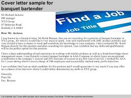 banquet bartender cover letter      cover letter sample for banquet bartender