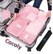 Cocoly <b>7pcs</b> travel Organizers <b>Packing</b> Cubes Luggage Organizers ...