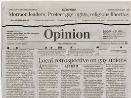 tom s osu my opinion on upcoming gay marriage court decisions kraemer newspaper opinion piece jan 28 2015 and mormon reaction