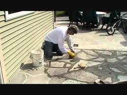 stone patio installation: how i install a stone patio with cement part  of  mike haduck pennsylvania