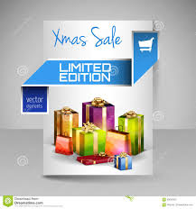 christmas flyer template paper banner blue ribbon stock vector brochure design template blue christmas gifts stock photography