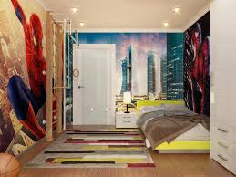 themed kids room designs cool yellow:  bedroom spiderman down lit boys room boys room designs ideas inspiration boys bedroom decorating