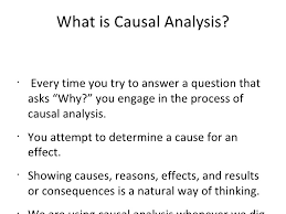 the causal analysis essaythe causal analysis essay an overview  followed by writing exercises
