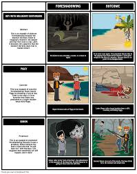 lord of the flies foreshadowing storyboard by rebeccaray choose how to print this storyboard