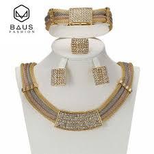 High-end luxury wedding <b>African Jewellery set</b> three-color <b>fashion</b> ...