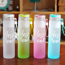 <b>480ML</b> Glass Water Bottle <b>Creative</b> Water Cup Makaron Gradual ...