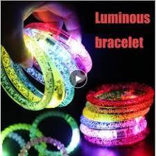 Free shipping <b>10pcs</b>/<b>lot color</b> changing <b>LED</b> bracelet Light up ...
