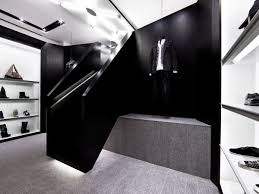 shine is a contemporary and avant garde fashion shop designed to be the perfect juxtaposition of bold and edgy this stunning store is a reflection of the ceiling avant garde