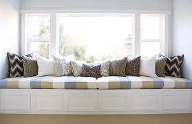 cozy white sweet built in window seats bay window seat