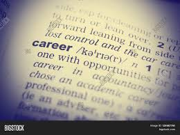 close up of word in english dictionary career definition and close up of word in english dictionary career definition and transcription
