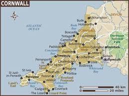 map of cornwall ile ilgili görsel sonucu