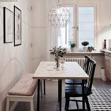 small dining bench: love the light fixture and seating styles how to style a small dining space