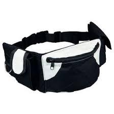 <b>Сумка</b> на пояс <b>Trixie Baggy</b> Belt, ремень 62–125 см, черный/серый