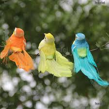 FF∮<b>1Pc mini</b> artificial foam feather bird <b>wedding</b> decorative doves ...