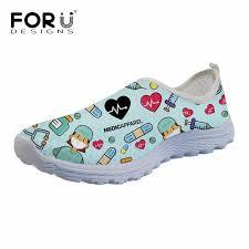 <b>FORUDESIGNS</b> Light Mesh Sneakers 3D Cartoon <b>Nurse</b> Print ...