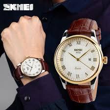 SKMEI <b>Fashion Men 30M Waterproof</b> Dress Watch British Style ...