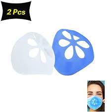 2Pcs <b>3D</b> Silicone Bracket for <b>Mask</b>, Lipstick Protection Stand, Inner ...
