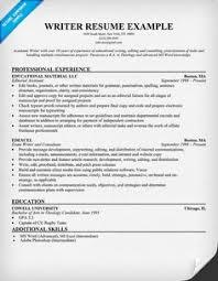 writer resume example resumecompanioncom writing sample resume