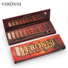 <b>VERONNI 12 Colors Matte</b> Earth Color Smoky Eyeshadow Palette ...