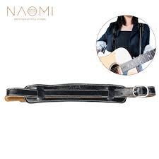 <b>NAOMI</b> Electric <b>Guitar Strap Leather</b> Black Adjustable Shoulder ...