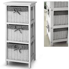 white storage unit wicker:  drawer storage cabinet with  baskets shelf storage unit wicker baskets