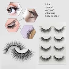Anself <b>SHIDISHANGPIN 4 Pairs</b> 3D Fake Eyelashes False Natural ...