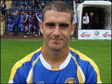 Omer Riza. Riza failed to score in 14 appearances for Shrewsbury - _47374533_omar_riza_226