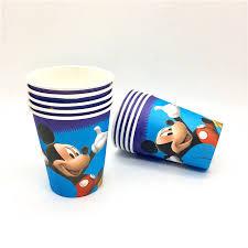 <b>10Pcs</b> Disney <b>Mickey</b> Mouse Party Supplies Cardboard <b>Cup</b> ...