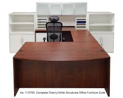 complete cherrywhite structures office furniture suite cherry office furniture