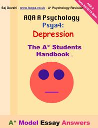 aqa a psychology psya depression a  model essay answersfacebook