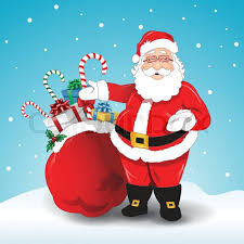 Image result for image santa with bag of gifts