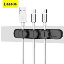 <b>Baseus</b> Magnetic <b>Cable Clip</b> USB <b>Cable</b> Winder Organizer <b>Clamp</b> ...