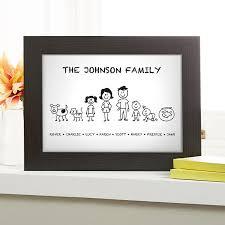 <b>Personalised</b> Family <b>Character</b> Prints, Canvases & Cushions