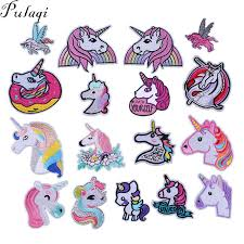 <b>Pulaqi Cute Unicorn</b> Patch Iron On Clothing Sequin Sewing On ...