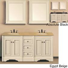 bathroom vanity 60 inch: awesome ivory white  inch double sink bathroom vanity with natural pertaining to bathroom vanities  inches popular