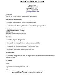 sample resume for custodian  tomorrowworld co  fd dd f z custodian resume examples   sample resume for custodian