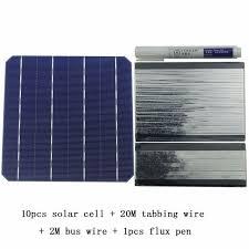 10Pcs 5W 156MM Monocrystalline High Efficiency Solar Cells 6x6 ...