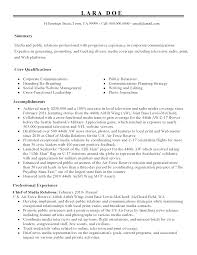 professional chief of media relations templates to showcase your resume templates chief of media relations